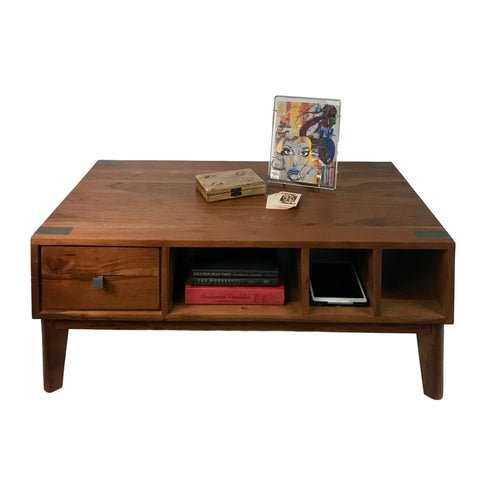Image of Mid-Century Modern Rustic Farmhouse Tables Made from Solid Acacia Wood for Home and Office - Farmhouse World