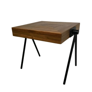 Mid-Century Sawhorse Table in Farmhouse Style Made from Solid Acacia Wood for Home and Office - Farmhouse World