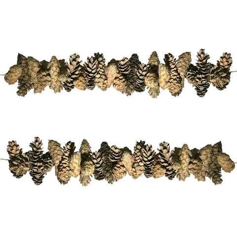 Pine Cone Garland Rustic Christmas Decor for Mantle Christmas Decoration or Fireplace Swag - Farmhouse World
