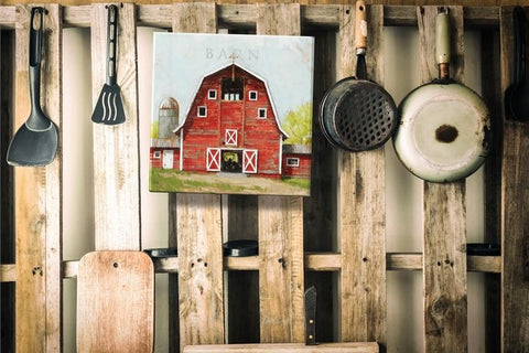 "Red Barn Gallery Wrapped Canvas Art - 5"" to 48"" Sizes - Farmhouse World"