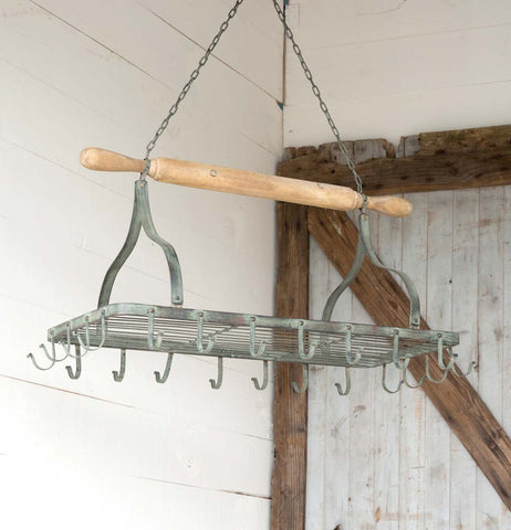 Rolling Pin Hanging Pot Rack - Farmhouse World