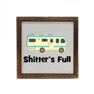 Shitter's Full 6x6 Christmas Sign Wall Art Sign - Farmhouse World