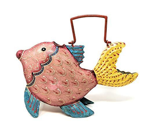 Skwiggles Fun Animal Shaped Metal Watering Can for Outdoor/Indoor Use on House Plants, Flowers, or Garden - Decorative and Functional Design Handcrafted and Painted by Metal Artisans - Farmhouse World