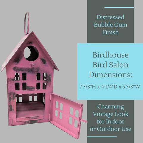 Metal Bird House Decor