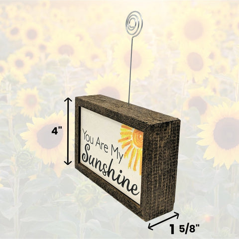 "Tabletop Picture Frame Block - You Are My Sunshine 6x4"" - Farmhouse World"
