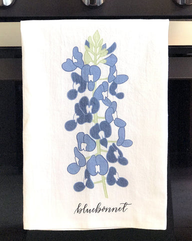 Image of Texas Bluebonnet Kitchen Towel - Farmhouse World