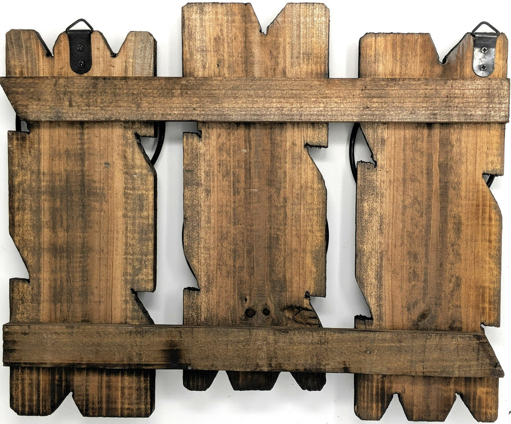 Triple Wall Planter Handcrafted of Reclaimed Barnwood - Indoor Decor/Outdoor Use with Plant Holders - Farmhouse World