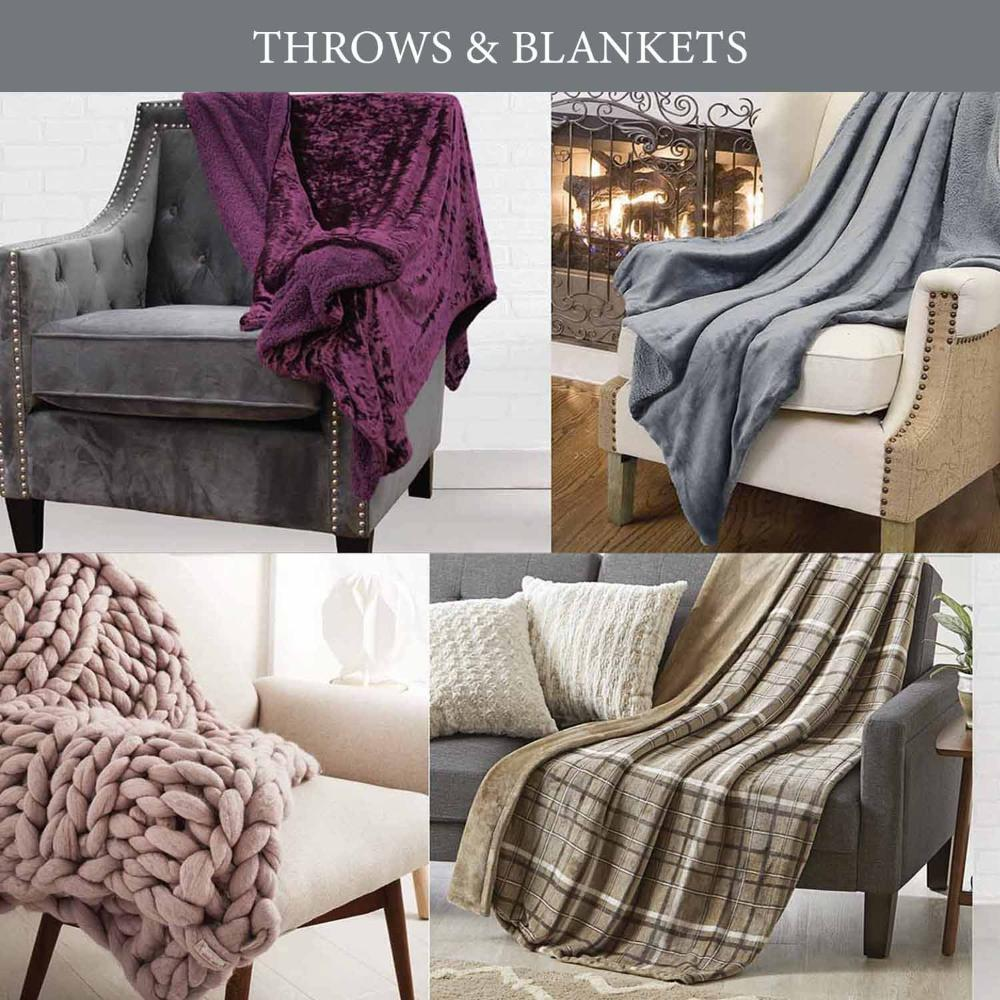 Sutton Home Fashions Throws and Blankets product catalog for mobile