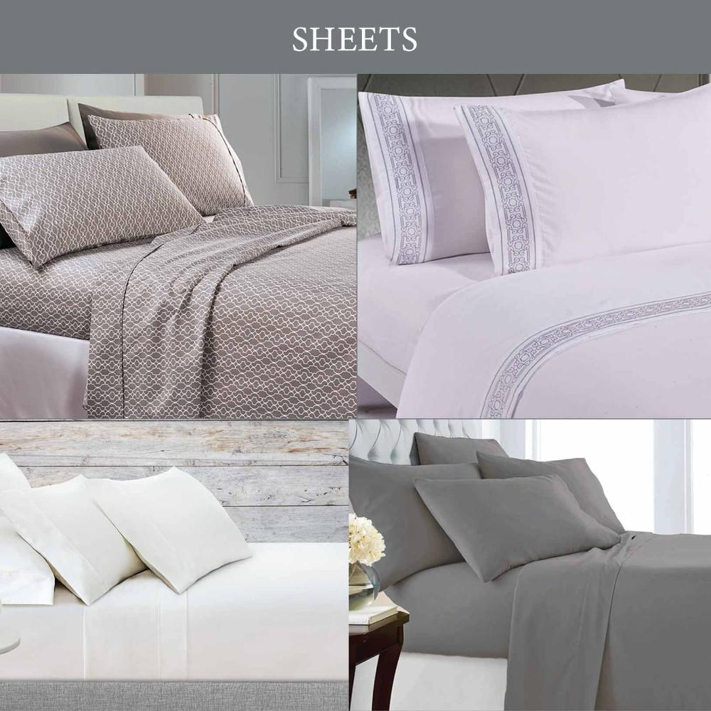 Sutton Home Fashions Sheets product catalog for mobile