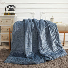 Load image into Gallery viewer, 15 lbs Microfiber Weighted Blanket with Duvet Cover