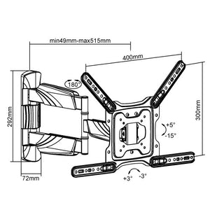 Mount-It! Dual Arm Articulating TV Wall Mount - MI-347L - Mount-It!