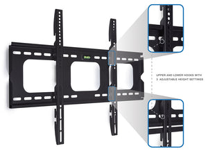 Mount-It! 1 Inch Slim Low-Profile TV Wall Mount - MI-305B - Mount-It!