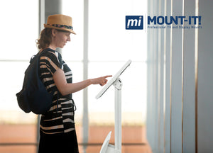 Secure iPad Floor Stand With Document Holder | MI-3770B