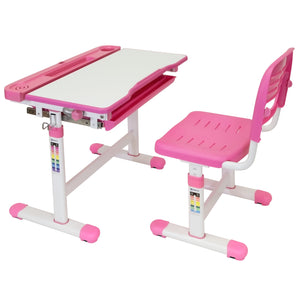 Kid's Desk and Chair Set for Ages 3-10