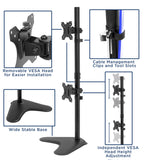 Vertical Dual Monitor Stand | MI-1758