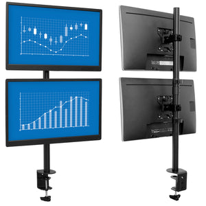 Vertical Dual Monitor Mount | MI-1768
