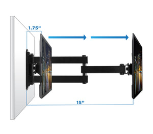 Mount-It!  Universal Swivel TV Wall Mount - MI-2042L - Mount-It!