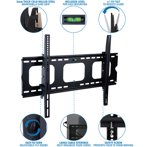 Heavy-Duty Tilting & Locking Low Profile TV Wall Mount | MI-303B 2