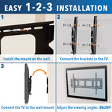 Mount-It! Low Profile TV Wall Mount - MI-303L - Mount-It!