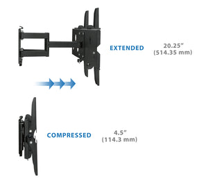 Mount-It! Dual Arm Articulating TV Wall Mount w/Extension - MI-310B24 - Mount-It!