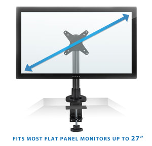 Mount-It! Height Adjustable Computer Monitor Mount, Fits 13-32 Inch Screens, Black – MI-31116B