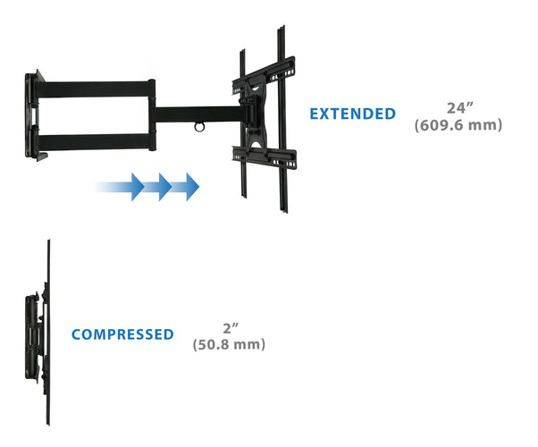 Full Motion TV Wall Mount | MI-345 2