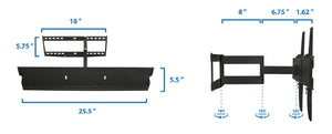 Mount-It! Swivel Wall TV Mount - MI-346L - Mount-It!