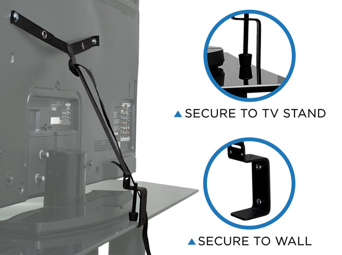 Anti-Tip Prevention TV Safety Straps | MI-350 2