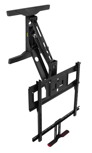 Height Adjustable Pull-Down Fireplace TV Mount  | MI-361 2