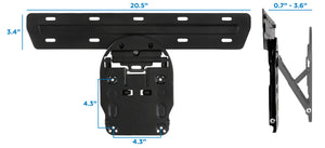 Mount-It! No-Gap Tilting TV Wall Mount - MI-366 - Mount-It!