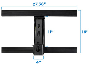 Mount-It! Fireplace TV Mount, Heavy Duty Mantel TV Mount Pull Down Mounting Bracket with Height Adjustment, Fits 50-100 Inch TVs - MI-373