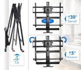 "Height Adjustable Fireplace TV Mount, Fits 50-100"" TVs 