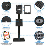 Secure iPad Floor Stand With Document Holder for 8th Generation iPad | MI-3770_G8