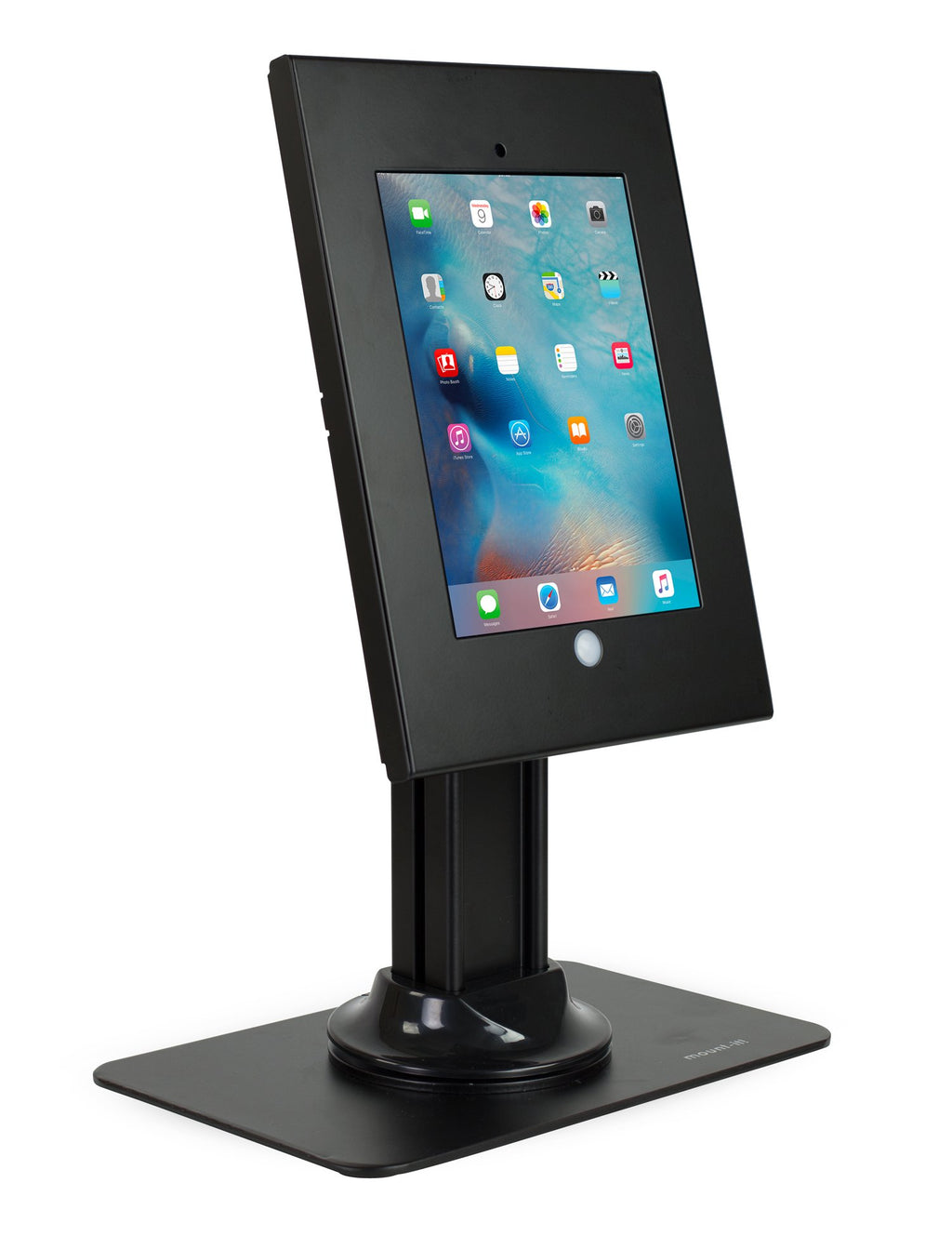 Secure iPad Enclosure Counter-top Kiosk, Fits all iPad 9.7 inch, Black - MI-3771B