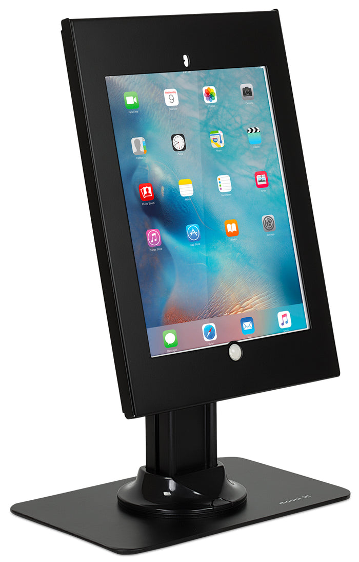 Secure iPad Pro Enclosure Counter-top Kiosk, Fits iPad Pro 12.9, Black - MI-3771B-XL