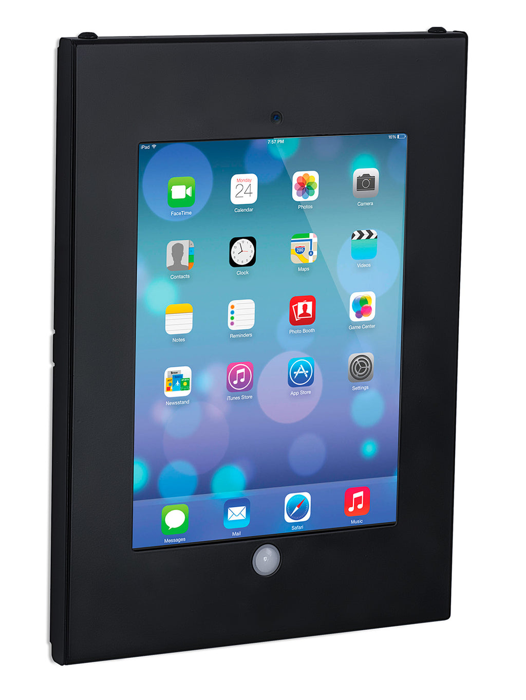 Secure iPad Enclosure Wall Mount, Fits all iPad 9.7, Black - MI-3772B