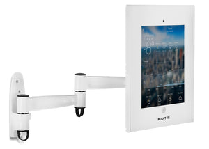 Secure iPad Wall Mount Enclosure w/ Swing Arm | MI-3774