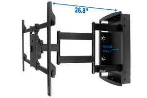 Recessed, Long Extension Articulating TV Wall Mount | MI-381