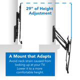 "Height Adjustable Fireplace TV Mount, Fits 42-80"" TVs 