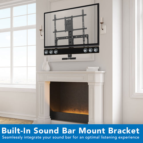 Height Adjustable Fireplace TV Mount, Fits 42-80