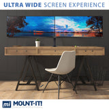 Ultrawide Dual Monitor Desk Mount | MI-3853