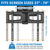 Motorized Fireplace TV Wall Mount | Fits 40-70 Inch TV Screen | MI-386