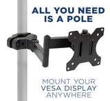 Full Motion Monitor Truss/Pole Mount | MI-391