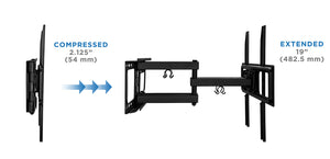 Mount-It! Full Motion Dual Arm TV Wall Mount - MI-3990 - Mount-It!