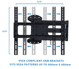 Mount-It! Full Motion TV Wall Mount with Articulating Arm - MI-3991XL - Mount-It!