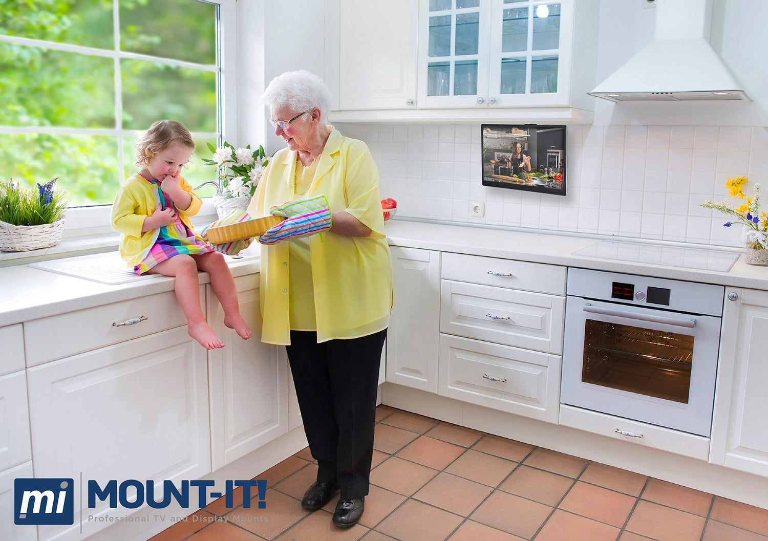 Under Cabinet and Ceiling TV Mount | MI-4200 – Mount-It!