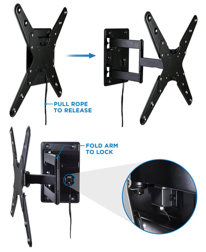 Locking RV TV Wall Mount With Detachable Bracket – MI-430 2