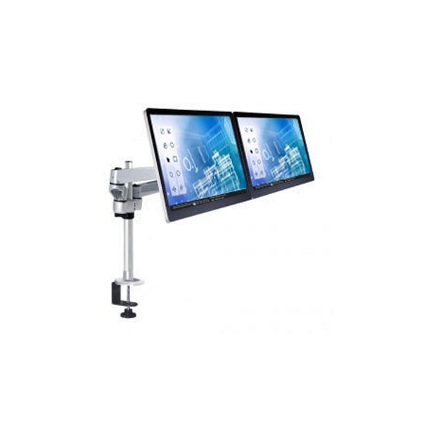 Mount-It! Apple Dual Wide Monitor Desk Mount - Silver - MI-43116A