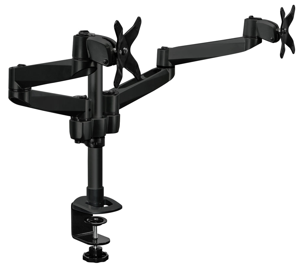 Mount-It! Dual Wide Adjustable Monitor Desk Mount - Black - MI-43116B