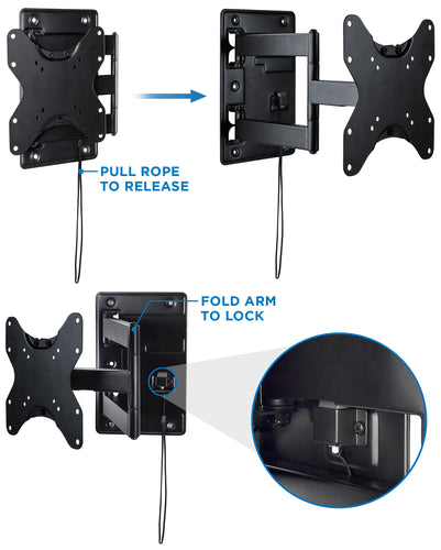 Camper TV Wall Mount With Detachable Bracket | MI-431 2
